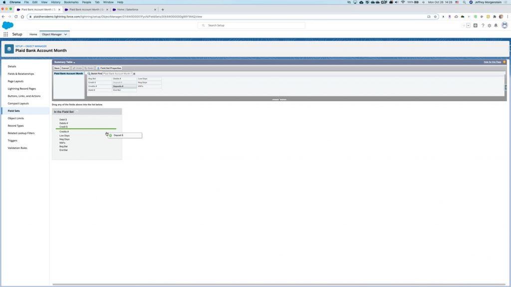 Plaid Salesforce App configuration